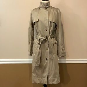 NWT New York & Company belted Trench Coat Sz 6